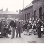1956_annual_sunday_school_outing_outside_headland_train_station